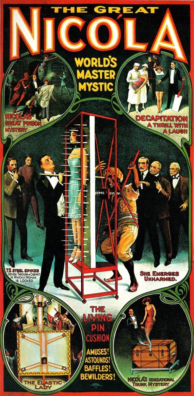 HUGE Magic Poster Nikola Worlds Master Mystic Magician Vintage torture art Poster 24 X 49 Fine Art Print mystical Magician decor