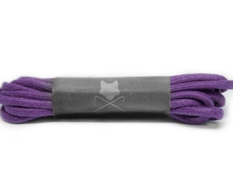 Purple Men's Custom Shoelaces