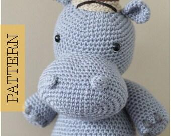 Free Amigurumi Hippo Pattern : Amigurumi crochet hippo pattern