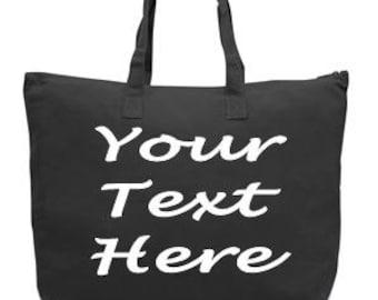 Cutomized Tote Bag - Customized Bag  - Custom Tote Bag - Canvas Tote Bag - Canvas Tote - Personalized Tote Bag - Monogrammed Tote Bag - Tote