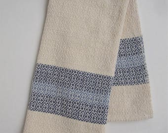 Handwoven M and W Twill Kitchen Towel