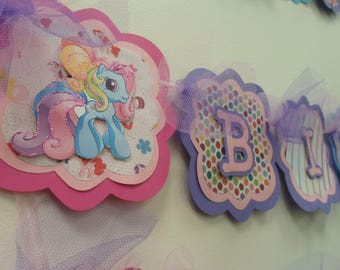 My Little Pony Banner - My Little Pony Party Decoration - Birthday Party Banner - My Little Pony Party