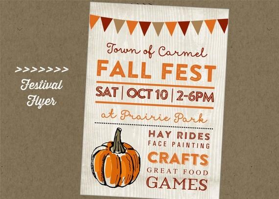 Fall Fest Printable Flyer Festival Craft Fair Vendor