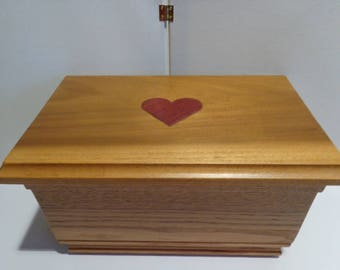Handmade wooden jewelry box