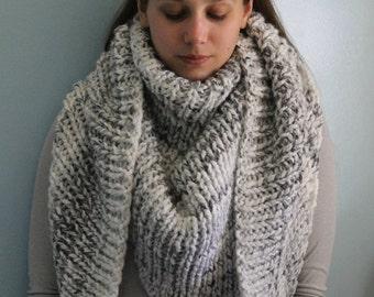 PATTERN // Lynne Oversized Triangle Scarf // Triangle Scarf Pattern // Blanket Scarf Pattern // Knit Scarf Pattern // Shawl Pattern