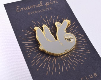 Sloth Lapel Pin - Cute Sloth Hard Enamel Pin
