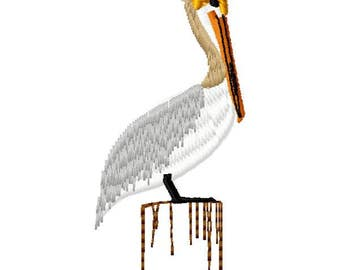 Pelican Machine Embroidery Design - Instant Download