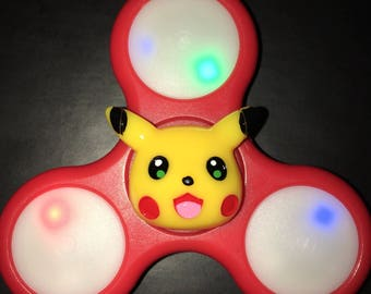 Pikachu Pokémon Custom LED Light Up Fidget Spinner