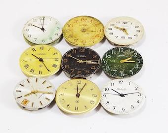 watch parts jewelry steampunk gift assemblage art clock supplies watch gift primitive tools unique clock antique industrial soviet watch