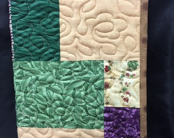 Composition Book Cover-  Multi-Colored Quilted Journal Cover- 100% Cotton