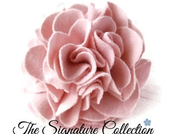 Carnation Flower Lapel Pin and Clip - Pink Fabric Flower - Hair Accessories - Flower Accessories