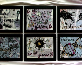 Motivational Biology Original Vinyl Handpainted Prints