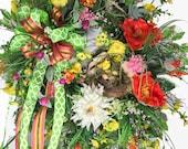 Large Summer Wreath, Larg...