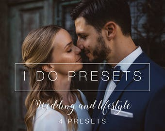 Natural and Warm - Wedding Lightroom Presets & Photoshop Filters for Photographers - 4 Presets
