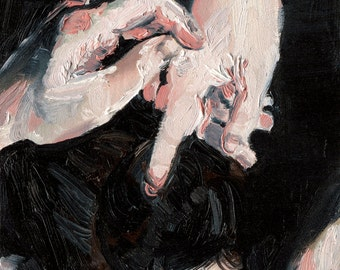 Twirl - Figure Painting Large Art, Modern Home Decor, Hand Study