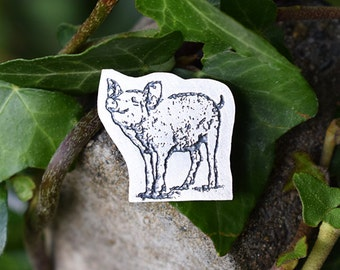 Silver Pig Brooch, Pig Jewellery, Pig Jewelry, Pig Gift for her, Pig Present for her, Pig, Animal Jewellery, Charlotte's Web Jewellery