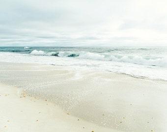 Windansea Photograph, Ocean Landscape, Beach Photo, Seascape, Seashore, Cream, Neutral Beach Decor, San Diego Ocean Print, Coastal Print