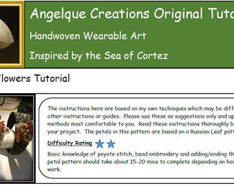 Poinsettia Flowers, Head Band or Bracelet Tutorial, Bead Weaving,  peyote, russian leaf, reds, golds, whites,