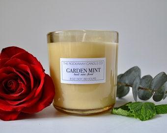 Garden Mint Soy Candle, Handmade, Organic, Wholesale, Bulk Order