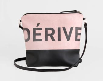 Vegan Leather Clutch, Leather Foldover Crossbody Bag, Convertible Bag, Pink Fold Over Satchel Bag, Faux Suede Evening Bag, Gift For Her