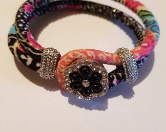 Snap button bracelet. Includes one snap button. Noosa snap button jewelry