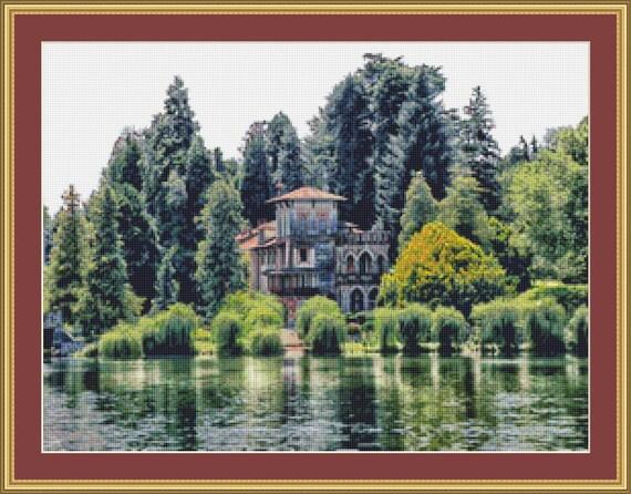 Italian Villa Cross Stitch Pattern /Digital PDF Files /Instant downloadable
