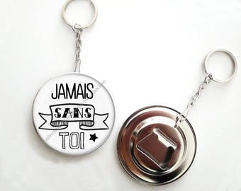Keychain bottle opener - 56mm - ever without you