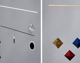 Munari et Mobiles de bébé Montessori octaèdre