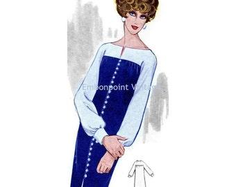 Plus Size (or any size) Vintage 1969 Cocktail Dress Pattern - PDF - Pattern No 119 Jennie