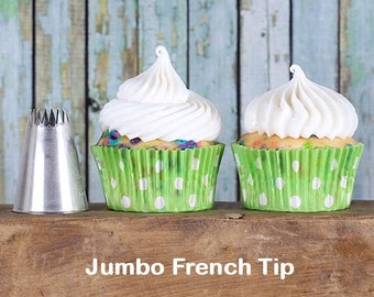 Jumbo French Frosting Tip, Jumbo French Decorating Tube, French Star Icing Nozzle, French Icing Tip, French Pastry Tip, Piping Tube