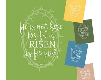 Matthew 28:6 Printable - Easter Set