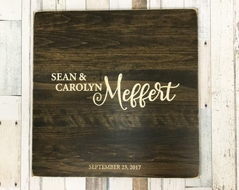 Wedding Guest Book Alternative, Wooden Guest Book Sign