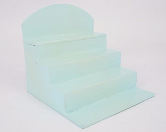 Mini Wooden Step Stairs Green