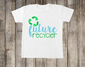 Future Recycler Earthday Little Kids T-shirt or Baby Onesie