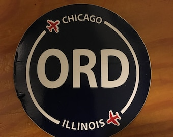 ORD Chicago airport sticker