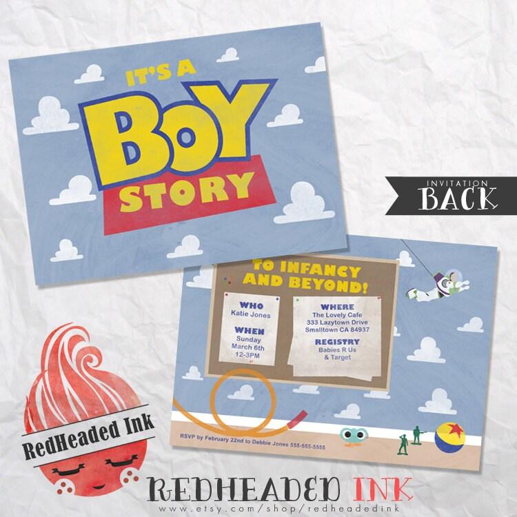 Toy Story Baby Shower Invi On Noahs Ark Baby Shower Invitations ...