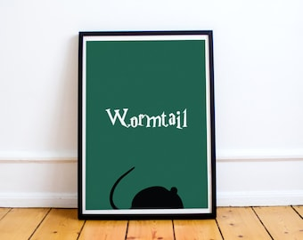 Wormtail Minimalist Print - Peter Pettigrew - Marauders Map - Harry Potter (Available in many sizes)