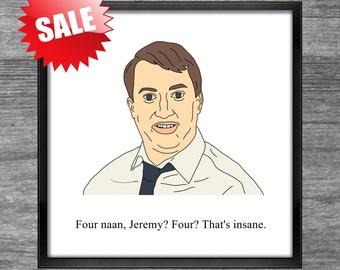 Peep Show Print | Mark | Four naan, Jeremy? Four? That's insane