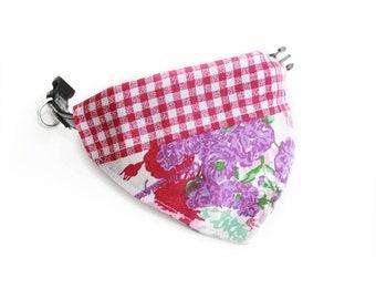 Bandana for Cats / Dogs /reversible bandana Flower power