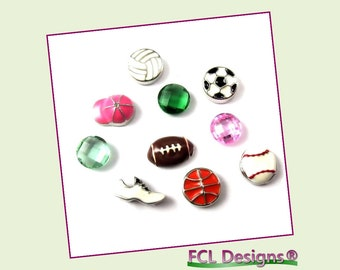 Sports Lover Theme Floating Charm Combo for Lockets by FCL Designs®