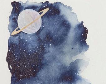 Orbit - Watercolour - Print