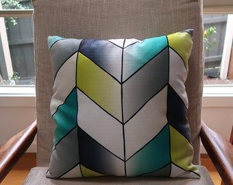 Geometric square cushion cover, Throw cushion cover, Scatter cushion cover, Throw pillow cover, Decorative pillow cover