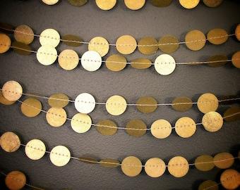 The Original Gold Circle Garland, Paper Holiday Garland