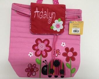 Personalized Quilted Stephen Joseph Signature Ladybug Backpack