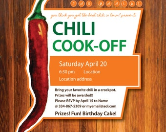 Chili Cook-off Invitation