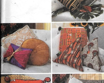 Butterick 3818 Pillow Sewing Pattern UNCUT