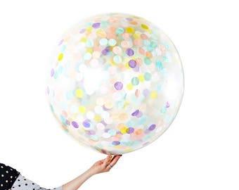 Jumbo Confetti Balloon - Pastel
