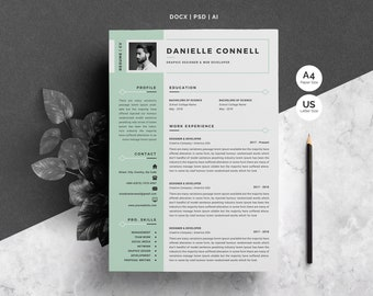 Word Resume Template | 4 Pages Pack