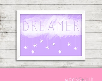 Printable Art - Dreamer - Nursery Decor