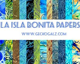La Isla Bonita Digital Paper Pack